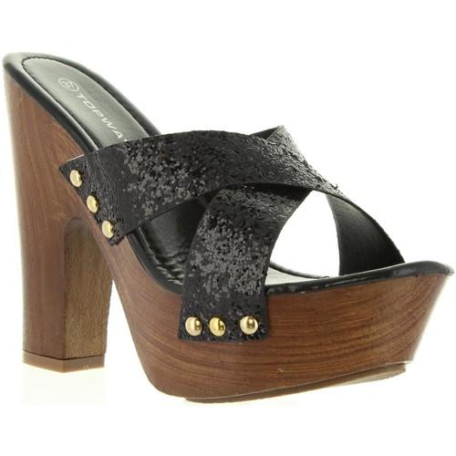 Zapatos Mujer Zuecos (Mules) Top Way B736910-B7200 Negro