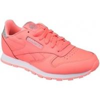 Zapatos Niños Zapatillas bajas Reebok Sport Classic Leather rosa