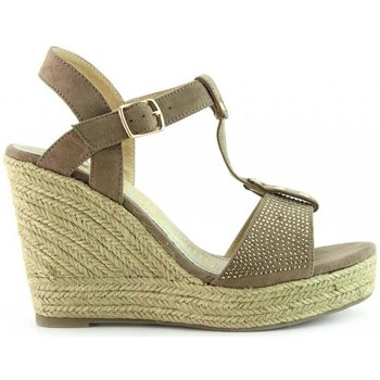 Xti - Sandales Compensées -height Taupe: 8cm- 9ya5m9o