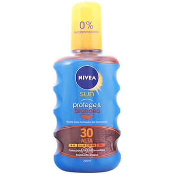 Belleza Protección solar Nivea Sun Protege&broncea Aceite Spf30  200 ml