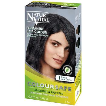 Belleza Tratamiento capilar Naturaleza Y Vida Coloursafe Tinte Permanente 1-negro  150 ml