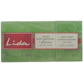 Belleza Productos baño Lida Jabón 100% Natural Glicerina Y Aloe Vera Lote 3 Pz 3 u