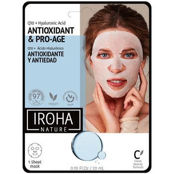 Belleza Mujer Mascarillas & exfoliantes Iroha Nature Tissue Mask Antiwrinkles Q10 + Ha  1 use