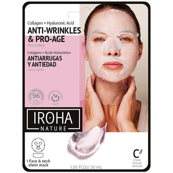 Belleza Mujer Mascarillas & exfoliantes Iroha 100% Cotton Face & Neck Mask Collagen-antiage 1 Use 1 u