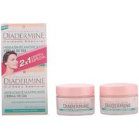 Belleza Mujer Hidratantes & nutritivos Diadermine Crema Hidratante Matificante Dia Pnm Lote  2 x 50 ml