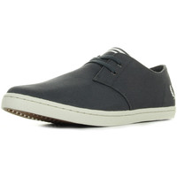 Zapatos Hombre Zapatillas bajas Fred Perry Byron Low Twill Charcoal Gris