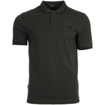 textil Hombre polos manga corta Fred Perry Twin Tipped Shirt Liquorice Black Marrón