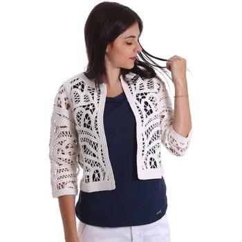 textil Mujer Chaquetas / Americana Liu Jo F17129MA28F Chaqueta de punto Mujeres Blanco Blanco