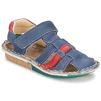 Zapatos Niño Sandalias El Naturalista KIRI Azul / Rojo