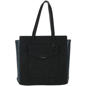 Bolsos Mujer Bolso shopping Lollipops Shopper de dos materiales Negro