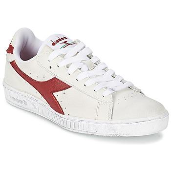 Zapatos Zapatillas bajas Diadora GAME L LOW WAXED Blanco / Rojo
