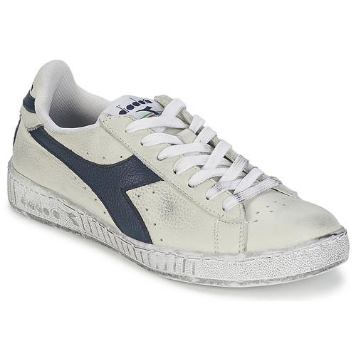 Zapatos Zapatillas bajas Diadora GAME L LOW WAXED Blanco / Azul
