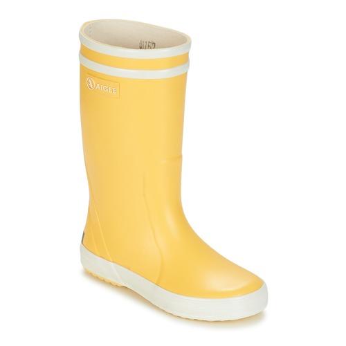 Aigle LOLLY POP Amarillo / Blanco - Envío gratis | ! - Zapatos Botas de agua Nino