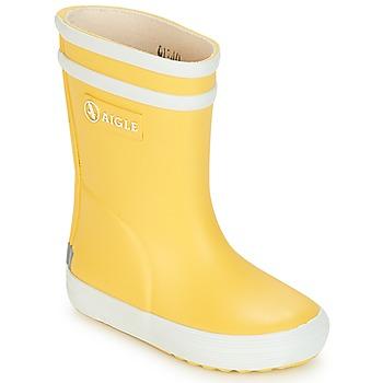 Zapatos Niños Botas de agua Aigle BABY FLAC Amarillo