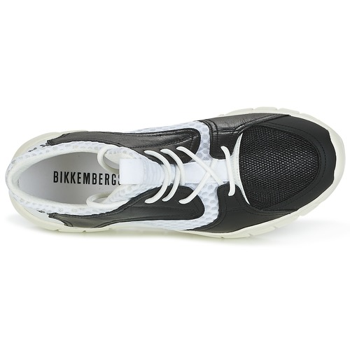 Zapatos especiales para hombres y mujeres Bikkembergs FIGHTER 2022 LEATHER Negro / Blanco