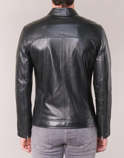 Ihexo De CueroPolipiel Hombre Attitude Chaquetas Casual Textil Negro n0vmN8w