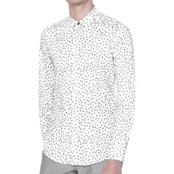 textil Hombre camisas manga larga Antony Morato MMSL00384 FA430264 Camisa Hombre Blanco Blanco