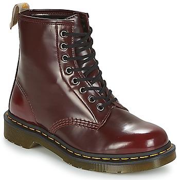 Zapatos Botas de caña baja Dr Martens VEGAN 1460 Cereza / Rojo / Cambridge / Brush