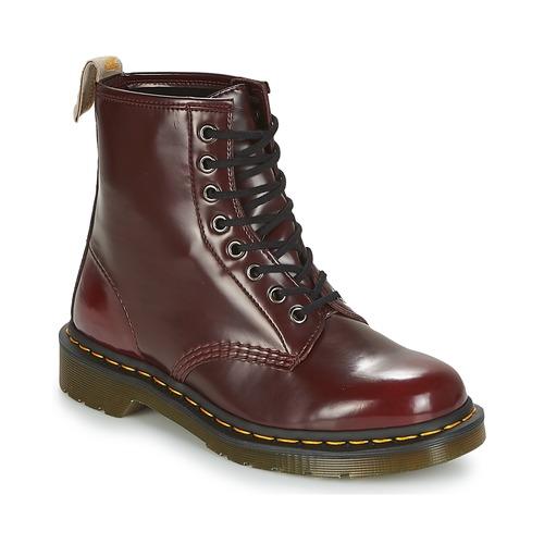 Zapatos especiales para hombres y mujeres Dr Martens VEGAN 1460 Rojo