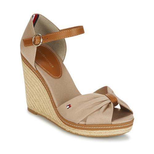 Tommy Hilfiger ICONIC ELENA SANDAL Beige - Envío gratis | ! - Zapatos Sandalias Mujer