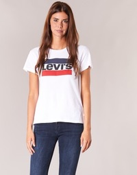 textil Mujer camisetas manga corta Levi's THE PERFECT TEE Blanco