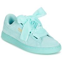 Zapatos Mujer Zapatillas bajas Puma WNS SUEDE HEART RESET.BLUE Azul / Pastel