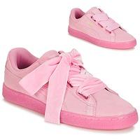 Zapatos Mujer Zapatillas bajas Puma SUEDE HEART RESET WN'S Rosa