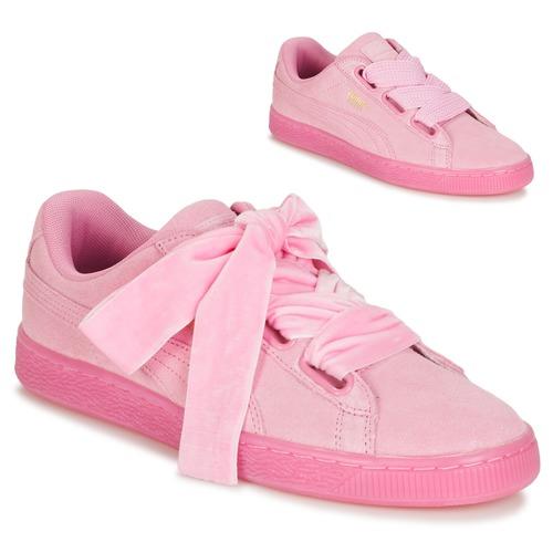 Zapatos promocionales Puma SUEDE HEART RESET WN'S Rosa  Descuento de la marca