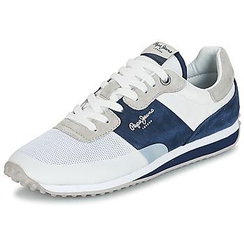Zapatos Hombre Zapatillas bajas Pepe jeans GARRET SAILOR Blanco / Azul