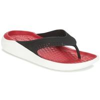 Zapatos Chanclas Crocs LITERIDE FLIP Negro / Rojo