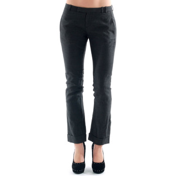 textil Mujer pantalones chinos Amy Gee - Gris oscuro