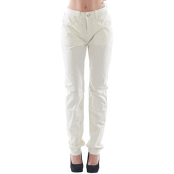 textil Mujer pantalones con 5 bolsillos Fornarina  Blanco roto