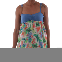 textil Mujer camisetas sin mangas Fornarina VIOLAINE_MULTICOLOR Azul