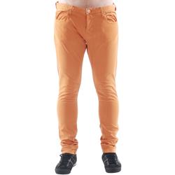 textil Hombre pantalones chinos Freesoul DRAKE CATO ORANGE Naranja