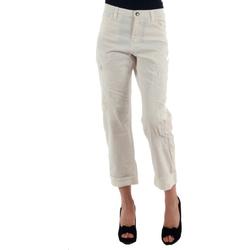 textil Mujer pantalones chinos Miss Sixty MIS01030 Blanco roto