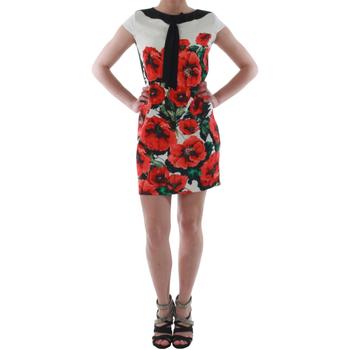 textil Mujer vestidos cortos Rinascimento 1253/16A_ROSSO Blanco
