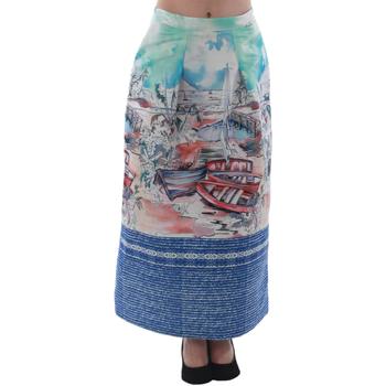 textil Mujer Faldas Rinascimento 4004/16_CELESTE Estampado