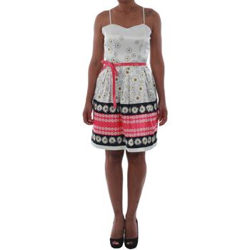 textil Mujer vestidos cortos Rinascimento 1384/16M_FUXIA Blanco
