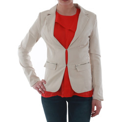 textil Mujer Chaquetas / Americana Sz Collection Woman WXZ_1376C_BEIGE Beige