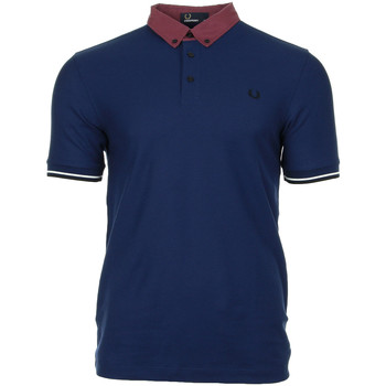 textil Hombre polos manga corta Fred Perry Woven Collar Pique Shirt French Navy Azul
