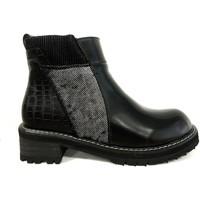 Zapatos Mujer Botas de caña baja Cassis Côte d'Azur Noe Bottines Vernis Noir Negro