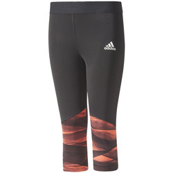 textil Niña leggings adidas Performance Training Wrapping 3/4 Tights Jr Negro