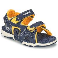 Zapatos Niños Sandalias de deporte Timberland ADVENTURE SEEKER 2-STRAP SANDAL Azul / Amarillo