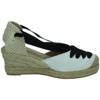 Zapatos Niña Alpargatas Torres Valenciana cintas BLANCO-NEGRO