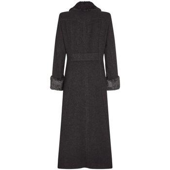 textil Mujer Abrigos De La Creme - Lana de Invierno de las Mujeres y Capa Militar de la Cachemir Grey