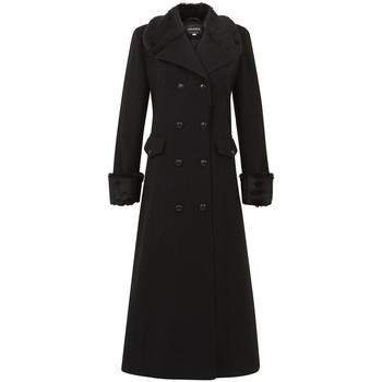 textil Mujer Abrigos De La Creme - Lana de Invierno de las Mujeres y Capa Militar de la Cachemir Black