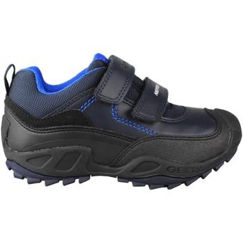 Zapatos Niños Zapatillas bajas Geox JN SAVAGE DOBLE AZUL