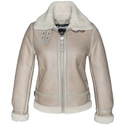 textil Mujer Chaquetas de cuero / Polipiel Schott BOMBARDIER FEMME    LCW 1257 LIGHT BEIGE Beige