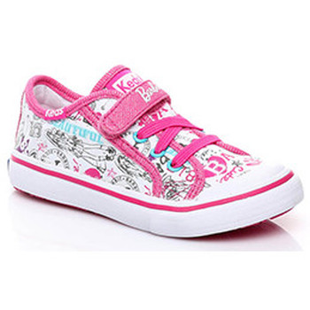Zapatos Niños Zapatillas bajas Keds Zapatilha KE-BARBIE DBL AC WHT MULT Blanco