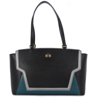 Bolsos Mujer Bolso shopping La Martina PORTENA BLACK GREEN Multicolore